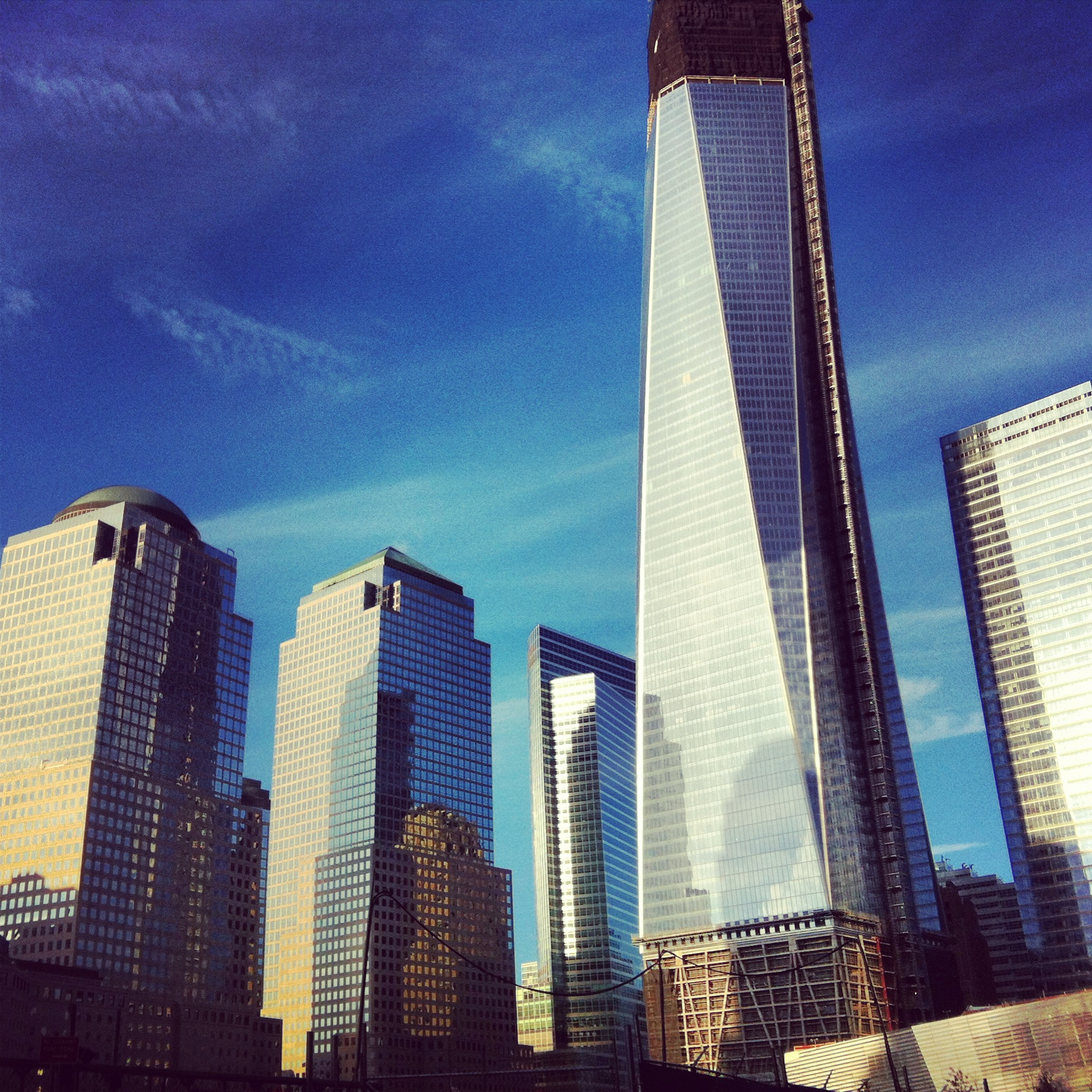 The new towers at the WTC site